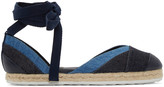 Pierre Hardy Navy and Blue Denim Bauhaus Beach Espadrilles