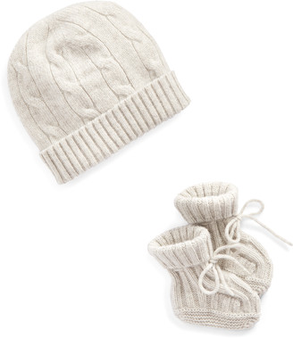 Ralph Lauren Cashmere Hat & Booties Set