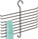 InterDesign Classico Wrinkle Free Scarf Closet Organizer Hanger, No Snag Storage for Scarves, Ties, Belts, Pashminas, Accessories - 8 Rods