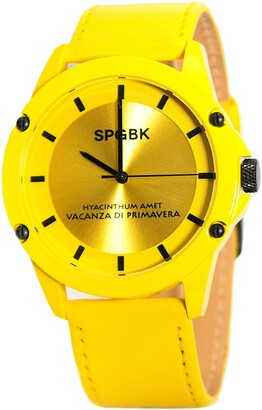 Spgbk Watches Celebration Leather Strap Watch, 44mm