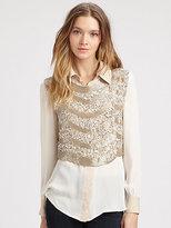 Haute Hippie Embellished Silk Vest