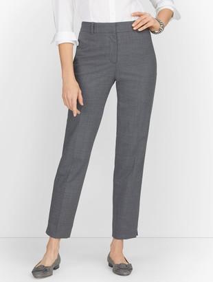 Talbots Luxe Wool Slim Ankle Pants - Grey Melange