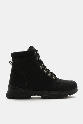 Ardene Faux Leather Hiker Boots