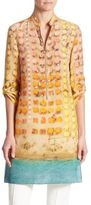Akris Punto Riviera-Print Silk Tunic