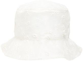 Maison Michel Jasen Embroidered Pvc Bucket Hat