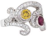 Ring 14K Diamond & Ruby