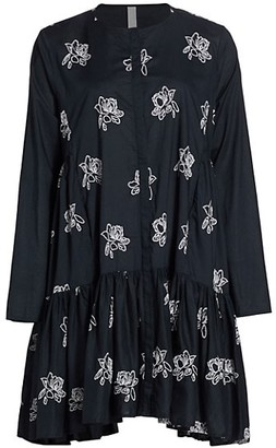 Merlette New York Caliza Floral Embroidered Tunic Dress