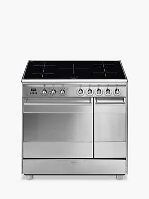 Smeg SSK92IMX8 90cm Electric Range Cooker, A Energy Rating, Stainless Steel