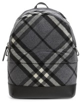 Burberry Infant Nico Check Backpack - Grey