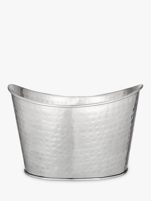 John Lewis & Partners Hammered Double Champagne Bucket