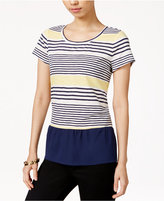 Maison Jules Striped Contrast Top, Only at Macy's