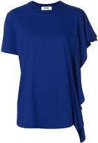 MSGM single frilled sleeve T-shirt
