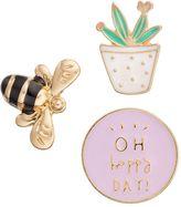 "Lauren Conrad Bee, Cactus & ""Oh Happy Day!"" Pin Set"