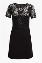 French Connection Clementin Sequin Jersey Dress