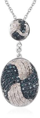 Shop Lc 925 Sterling Silver Diamond Pendant in Rhodium Size 20 Inch Ct 0.75 - Size 20''