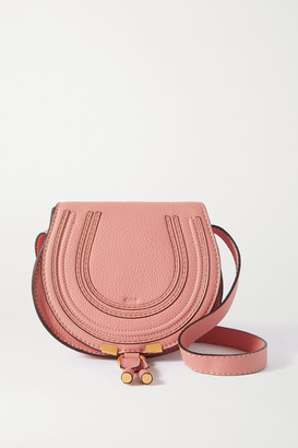 Chloé Marcie Mini Textured-leather Shoulder Bag - Pink