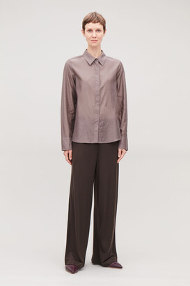 Cos Elastic-Waist Jersey Trousers