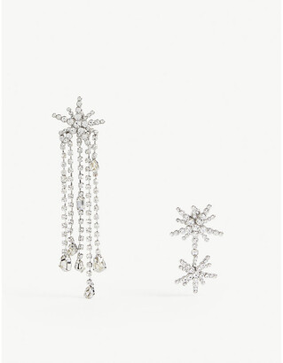Maje Cystal-embellished earring and necklace