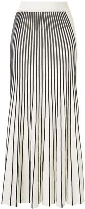 Alexis Vani pleated striped skirt