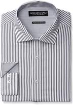 Nick Graham Men's Stripe Poplin Dress Shirt