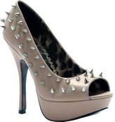 Bettie Page Women's Regan - Nude Ornamented Shoes