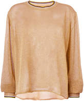 Forte Forte sheer glitter-effect top