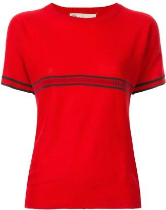 Gucci Pre-Owned Web stripe T-shirt
