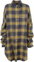 R 13 Oversized Plaid Shirt