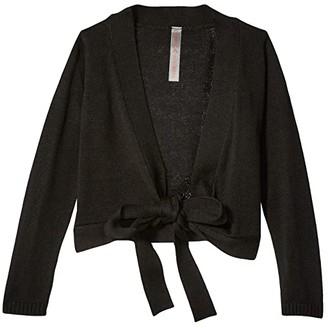 Capezio Wrap Sweater (Toddler/Little Kids/Big Kids) (Black) Girl's Clothing