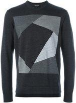 Emporio Armani geometric jacquard sweater