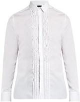 Lanvin Single-cuff pleated-bib cotton shirt