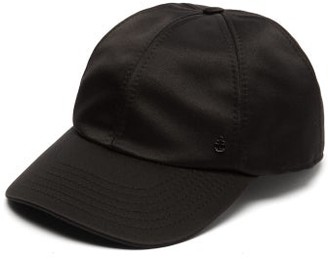 Maison Michel Tiger Logo-charm Silk-blend Cap - Womens - Black