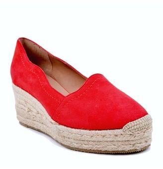 Bettye Muller Concepts Reese Suede Espadrille Wedge Platform Sandal