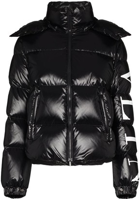 Valentino Logo-Print Puffer Jacket