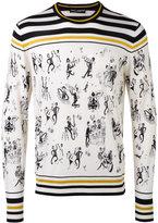 Dolce & Gabbana jazz club print sweater - men - Silk/Cashmere - 48