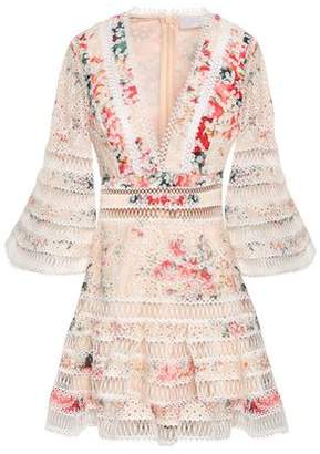 Zimmermann Floral-print Broderie Anglaise Cotton Mini Dress