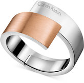 Calvin Klein Two-Tone Bypass Ring