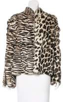 Tom Ford Zip-Accented Rabbit Fur Jacket w/ Tags