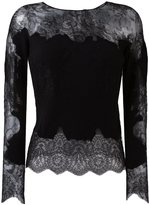 Ermanno Scervino lace insert knitted top - women - Silk/Polyamide/Cashmere/Wool - 38