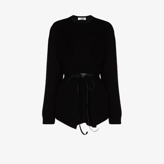 Valentino Belted Wool Sweater