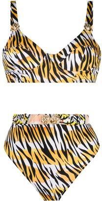 Reina Olga Marilyn tiger print bikini