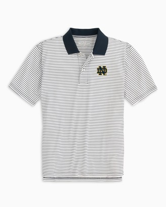 Southern Tide Notre Dame Fighting Irish Pique Striped Polo Shirt