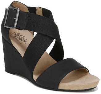 LifeStride Hayden Women's Strappy Wedge Sandals