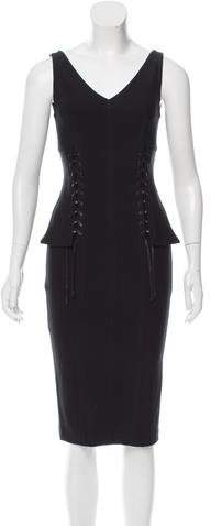 Yigal Azrouel Lace-Up Bustier Dress w/ Tags