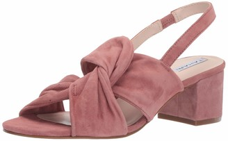 Tahari Womens Galiana Knotted Heeled Sandal Ice Leather 6.5 M