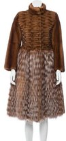 Fendi Mink & Fox Fur Coat