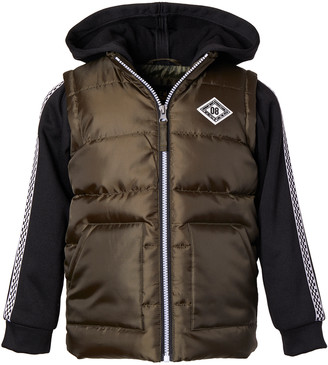 iXtreme Boys' Puffer Coats OLIVE - Olive Hooded Puffer Coat - Infant & Toddler