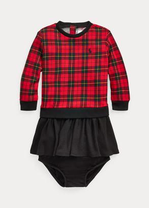 Ralph Lauren Plaid Terry Dress & Bloomer