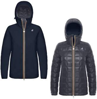 K-Way K Way Marguerite Thermo Reversible Padded Jacket with Hood