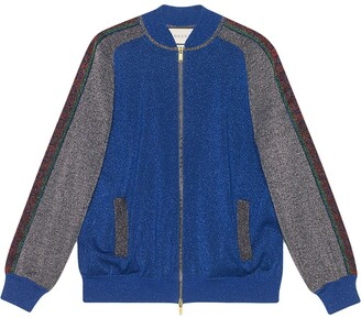 Gucci Bomber in wool with lurex